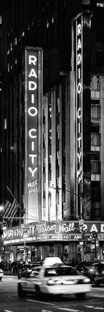 Radio City Music Hall and Yellow Cab by Night, Manhattan, Times Square, New York City