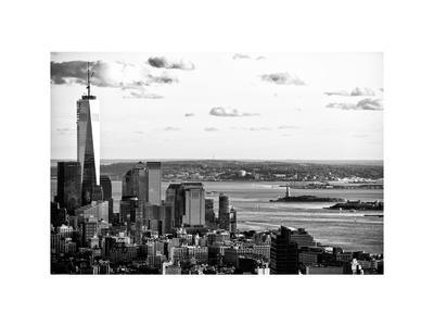 The One World Trade Center (1WTC), Hudson River and Statue of Liberty View, Manhattan, New York