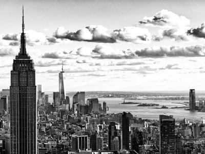 Skyline with the Empire State Building and the One World Trade Center, Manhattan, NYC