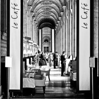 Modern Brewery, Cafe Marly, the Louvre Museum, Glass Pyramids, Paris, France