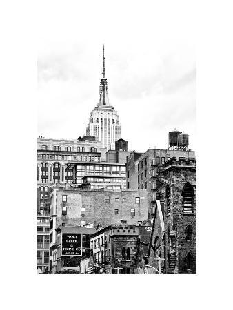 Architecture and Buildings, Empire State Building, Midtown Manhattan, NYC, White Frame