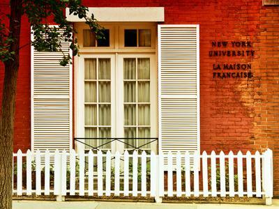 La Maison Française of New York University (Nyu), Greenwich Village, Manhattan, NYC, US, Art Colors