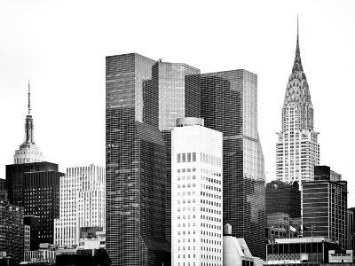 Architecture and Buildings, Empire State Building and Chrysler Building Tops, Manhattan, NYC