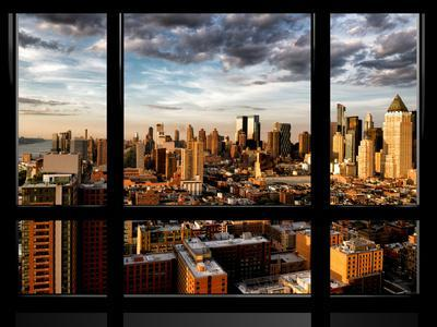 Window View, Landscape at Sunset, Theater District and Hell's Kitchen Views, Manhattan, New York