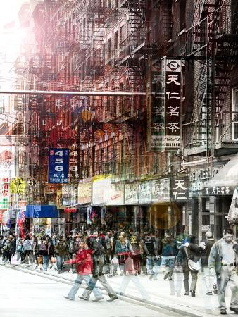 Urban Vibrations Series, Fine Art, Urban Style, Chinatown, New York City, United States