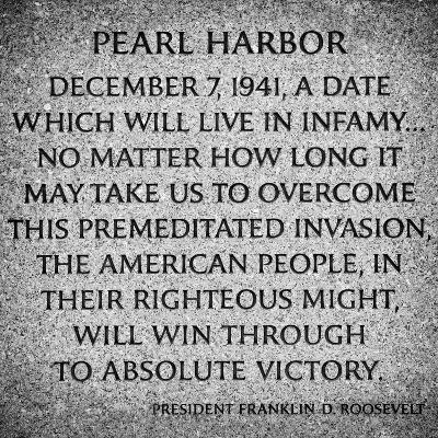 Pearl Harbor Tablet by President Franklyn D.Roosevelt, Washington D.C, White Frame Square