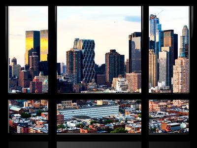 Window View, Special Series, Sunset Skyline at Theater District, Midtown Manhattan, New York