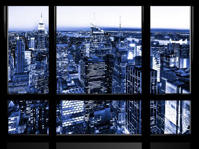 Window View, Special Series, Skyscrapers View at Night, Manhattan, New York, NYC