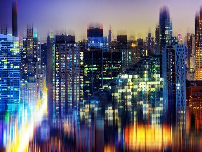 Urban Stretch Series, Fine Art, Manhattan by Night, New York, United States