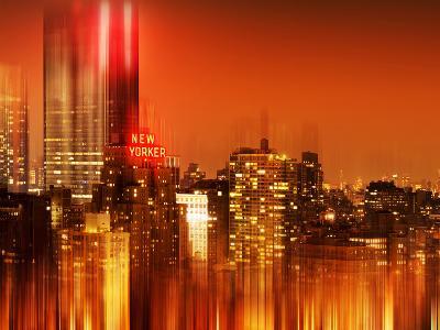 Urban Stretch Series, Fine Art, Newyorker, Manhattan by Night, New York, United States
