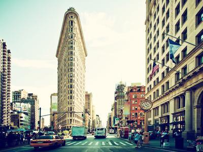 Landscape of Flatiron Building and 5th Ave, Manhattan, New York City, United States