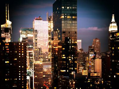 Times Square with Empire State Building, Architecture and Buildings, Manhattan, NYC, Trendy Colors