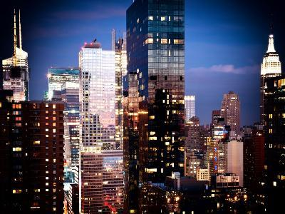 Times Square with Empire State Building, Architecture and Buildings, Manhattan, NYC, US, Vintage