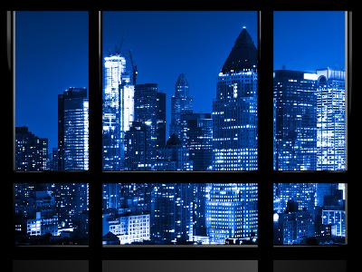 Window View, Special Series, Blue Night, Times Square, Manhattan, New York City, United States