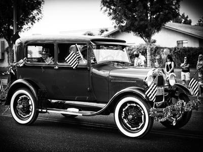 Historic Vehicule, Black and White Photography, Vintage, Arizona, United States, USA