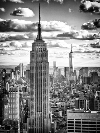 Cityscape, Empire State Building and One World Trade Center, Manhattan, NYC