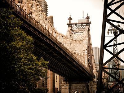 Ed Koch Queensboro Bridge (Queensbridge) View, Manhattan, New York, United States, Vintage