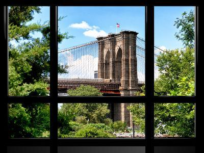 Window View, Special Series, the Brooklyn Bridge View, Manhattan, New York City, United States