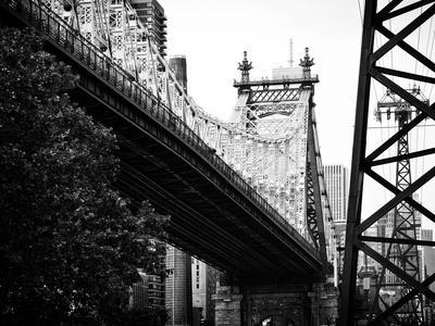 Ed Koch Queensboro Bridge (Queensbridge) View, Manhattan, New York, Black and White Photography