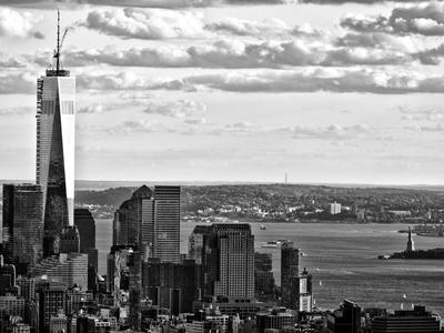 One World Trade Center and Statue of Liberty Views, Manhattan, New York