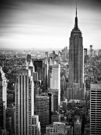 Lifestyle Instant, Skyline, Empire State Building, Manhattan, Black and White Photography, NYC, US