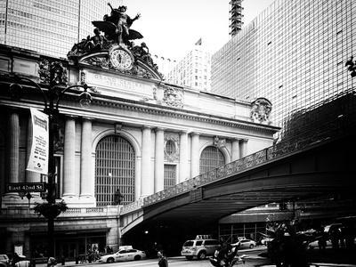 Vintage Black and White Series - Grand Central Station - 42nd Street Sign - Manhattan, New York