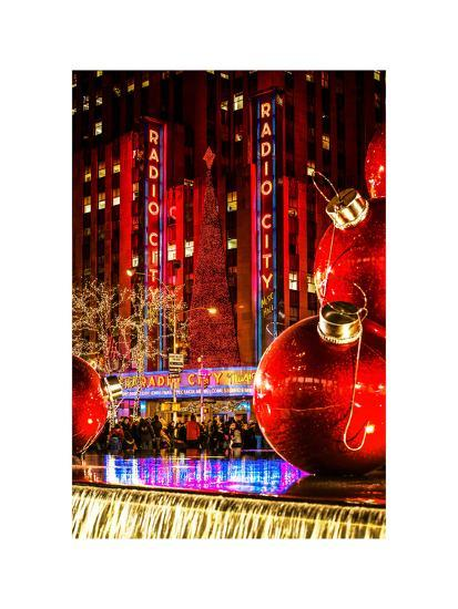 The Giant Christmas Ornaments on Sixth Avenue across from ...