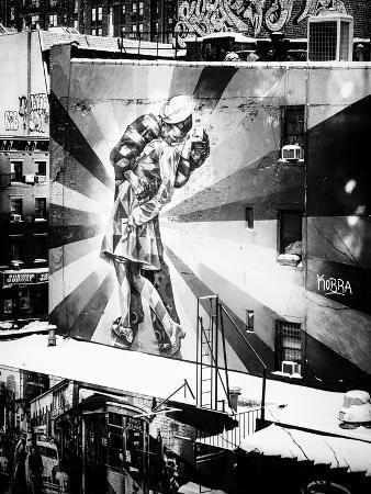 NYC Urban Street Art in Manhattan, in Winter