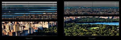 Window View with Venetian Blinds: Central Park with Upper West Side Buildings