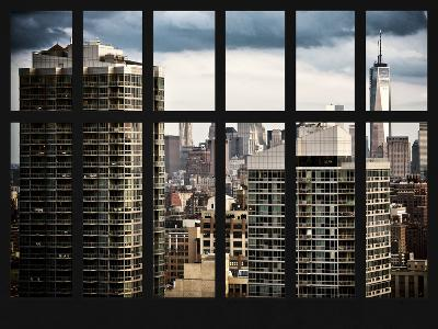Window View with the One World Trade Center (1WTC) - Manhattan - New York City