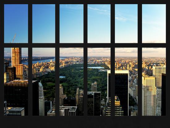 Window View Central Park View Manhattan New York City Usa Photographic Print Philippe Hugonnard Allposters Com