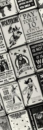 Antique Enamelled Signs - Wall Signs - Notting Hill - London - UK - England - Door Poster