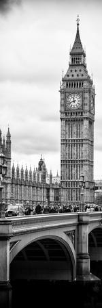 View of Big Ben from across the Westminster Bridge - London - England - UK - Door Poster