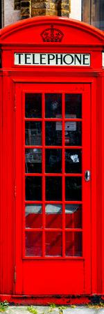 Red Phone Booth in London - City of London - UK - England - United Kingdom - Europe - Door Poster