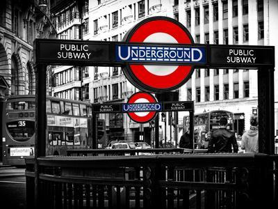 The Underground Signs - Subway Station Sign - City of London - UK - England - United Kingdom