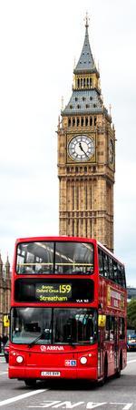 London Red Bus and Big Ben - London - UK - England - United Kingdom - Door Poster