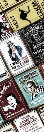 Antique Enamelled Signs - Wall Signs - Notting Hill - London - UK - Photography Door Poster