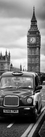 London Taxi and Big Ben - London - UK - England - United Kingdom - Europe - Door Poster