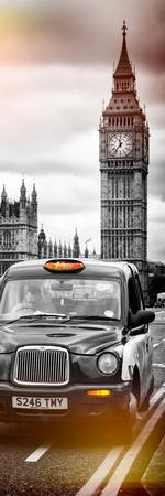 London Taxi and Big Ben - London - UK - England - United Kingdom - Europe - Door Poster