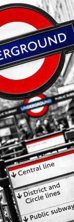 The Underground - Subway Station Sign - London - UK - England - United Kingdom - Door Poster
