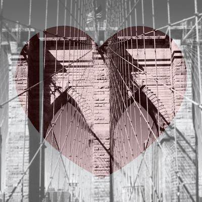 Love NY Series - The Brooklyn Bridge - Manhattan - New York - USA - B&W Photography