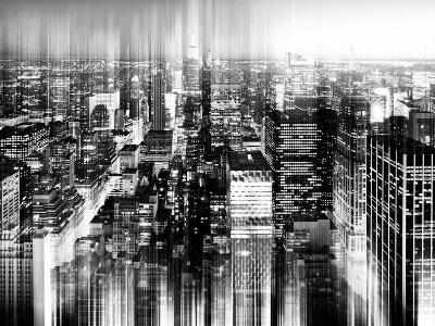 Urban Stretch Series - Skyline of Manhattan by Night - New York