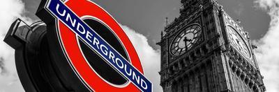 Big Ben and Westminster Station Underground - Subway Station Sign - City of London - UK - England