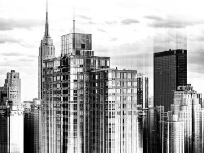 Urban Stretch Series - Cityscape of Manhattan with the Empire State Building - New York