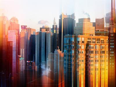 Urban Stretch Series - Cityscape of Times Square Buildings - Manhattan - New York