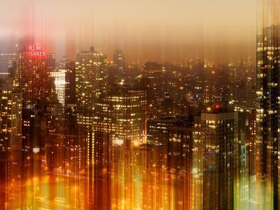 Urban Stretch Series - Manhattan at Night - New Yorker Hotel Sign - New York City