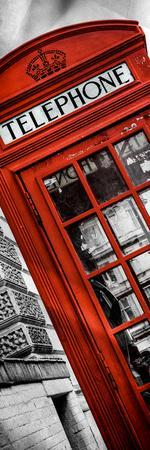 Red Phone Booth in London with the Big Ben - City of London - UK - Photography Door Poster