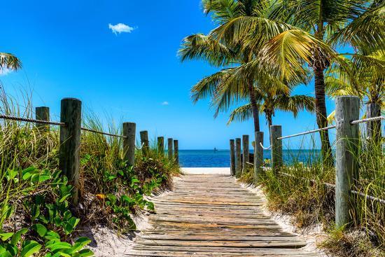 Boardwalk On The Beach Key West Florida
