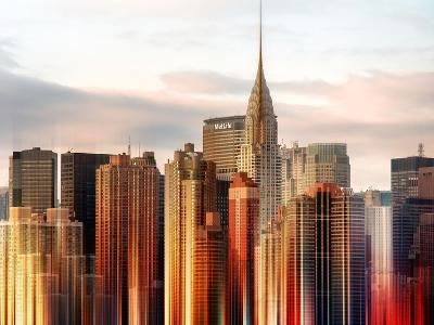Urban Stretch Series - Manhattan Skyscrapers with the Chrysler Building - New York
