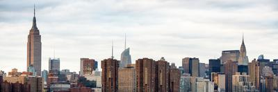 Panoramic Landscape View Manhattan with the Empire State Building and Chrysler Building - NYC